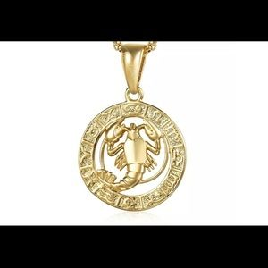 "Cancer Zodiac Sign Gold Filled 20"" Chain Necklace"